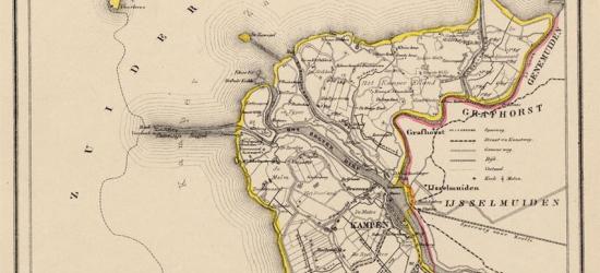 Gemeente Kampen anno ca. 1870, kaart J. Kuijper (collectie www.atlasenkaart.nl)