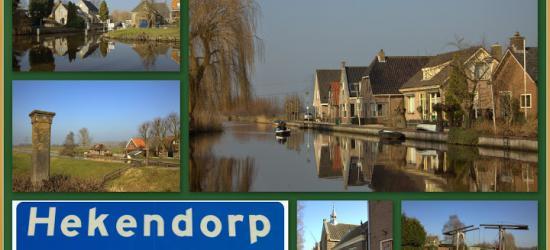 Hekendorp, collage van dorpsgezichten (© Jan Dijkstra, Houten)