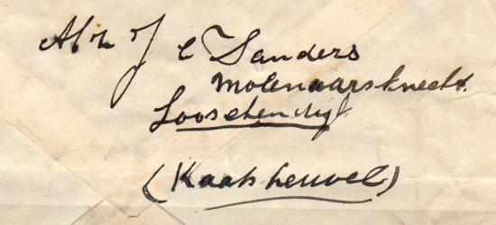 Hier schrijft iemand in 1928 dat ie op de Looschendijk onder Kaatsheuvel woont. Dat is een schrijffout en moet natuurlijk Loonschendijk zijn (het betreft immers de dijk naar Loon [op Zand] en niet naar Loo).