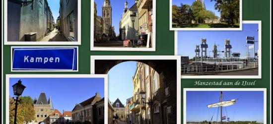 Kampen, collage van stadsgezichten (© Jan Dijkstra, Houten)