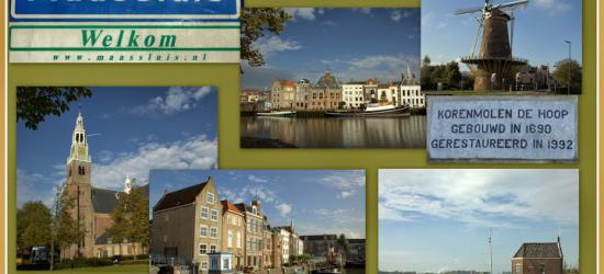 Maassluis, collage van stadsgezichten (© Jan Dijkstra, Houten)