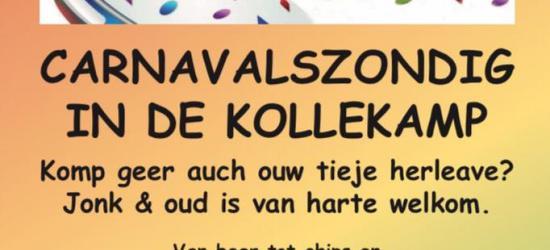 Natuurlijk doen ze in Moorveld ook aan het andere jaarlijkse feest; carnaval, en wel op carnavalszondag in Gemeenschapshuis De Kollekamp.