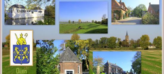 Oijen, collage van dorpsgezichten (© Jan Dijkstra, Houten)