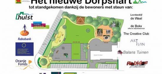 Dankzij een lokale landschapsarchitecte die een herinrichtingsplan heeft gemaakt, en vele instanties die eraan hebben meegewerkt en -gefinancierd, ligt er in het dorpje Ossenisse nu een mooi nieuw en vooral ook (multi)functioneel dorpshart.