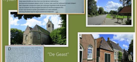 Rinsumageast, collage van dorpsgezichten (© Jan Dijkstra, Houten)