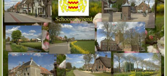 Schoonrewoerd, collage van dorpsgezichten (© Jan Dijkstra, Houten)