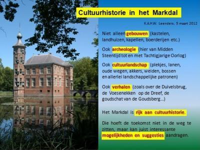 Historisch-geograaf dr. K.A.H.W. Leenders licht in dit werk toe welke aspecten zoal een rol kunnen spelen bij het begrip 'cultuurhistorie'
