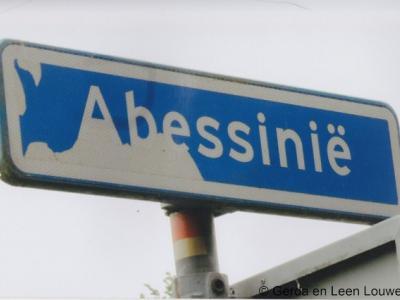 Abessinië is een polder, weggetje en buurtschap. De buurtschap ligt niet aan dit weggetje, dat onbewoond is, maar aan de Parallelweg.