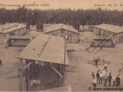 Alberts Dorp (vrouwenkamp bij Soesterberg 1914-1918), ansicht, beeldzijde