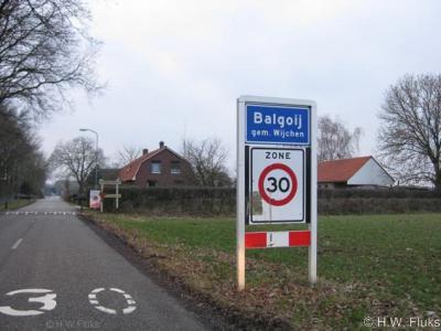 Balgoij wordt officieel met ij geschreven, maar volgens de heemkundekring hoort de plaats eigenlijk met y te worden geschreven. Dat is dan ook de spelling die op de lokale site wordt gehanteerd.
