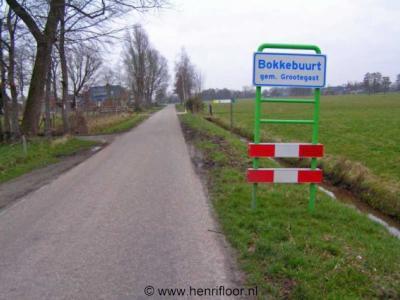 Bokkebuurt, de plaatsnaamborden zijn in 2007 geplaatst en helaas in 2009 alweer verdwenen