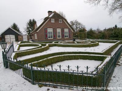 Hanendorp, landhuis aan de Hanendorperweg in winterse sferen