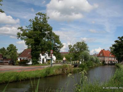 Aan het riviertje de Korte Linschoten in Linschoten