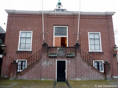 Maasland, het voormalige gemeentehuis uit 1874 is tegenwoordig een servicepunt van de - sinds 2004 - nieuwe gemeente Midden-Delfland.