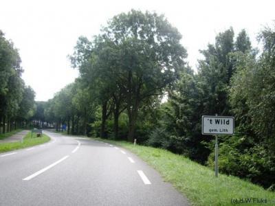 Volgens het plaatsnaambord heet de buurtschap 't Wild 't Wild en niet Het Wild zoals Google Maps en de atlas Noord-Brabant ons willen doen geloven.