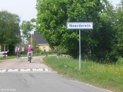 Noarderein is sinds 2011 ter plekke herkenbaar d.m.v. plaatsnaamborden. Vreemd is dat de borden alleen Friestalig zijn, terwijl de overige plaatsnaamborden in Smallingerland doorgaans tweetalig zijn.