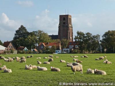 Ransdorp is al van verre te herkennen aan de markante stompe kerktoren. De 32 meter hoge toren is gebouwd tussen 1502 en 1542. Een spits ontbreekt omdat in 1542 het geld op was, waardoor de toren niet voltooid kon worden.