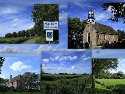 Aalsum, collage van dorpsgezichten (© Jan Dijkstra, Houten)
