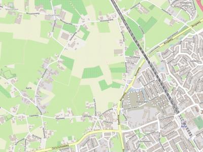Buurtschap Aarle ligt direct NW van de kern Best, rond de Aarleseweg. Vanaf 2021 verrijst O hiervan de nieuwbouwwijk Aarlesche Erven. (© www.openstreetmap.org)