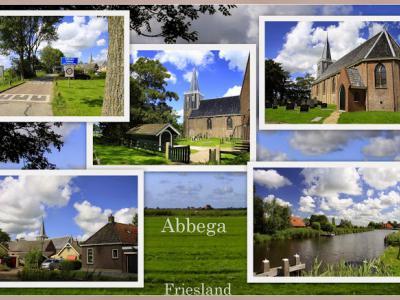 Abbega, collage van dorpsgezichten (© Jan Dijkstra, Houten)