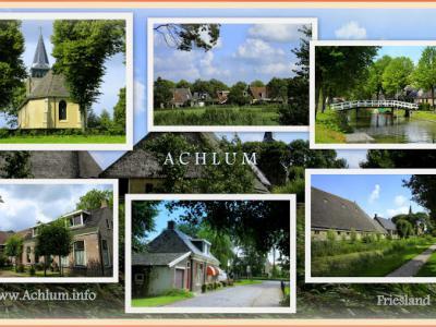 Achlum, collage van dorpsgezichten (© Jan Dijkstra, Houten)