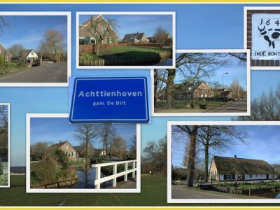 Achttienhoven, collage van buurtschapsgezichten (© Jan Dijkstra, Houten)