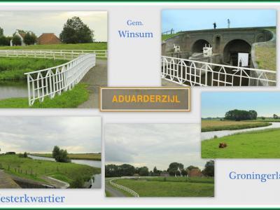 Aduarderzijl, collage van buurtschapsgezichten (© Jan Dijkstra, Houten)