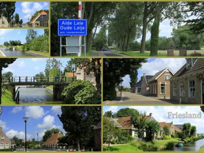 Alde Leie, collage van dorpsgezichten (© Jan Dijkstra, Houten)