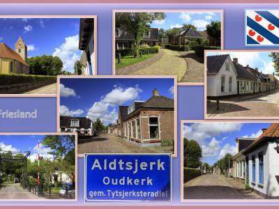 Aldtsjerk, collage van dorpsgezichten (© Jan Dijkstra, Houten)