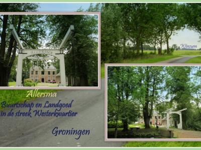 Allersma, collage van buurtschapsgezichten (© Jan Dijkstra, Houten)