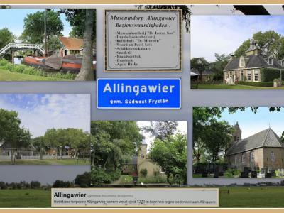 Allingawier, collage van dorpsgezichten (© Jan Dijkstra, Houten)