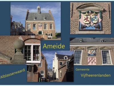 Ameide is een dorp in de provincie Utrecht (t/m 2018 provincie Zuid-Holland), in de streek Alblasserwaard, gemeente Vijfheerenlanden. Het was een zelfstandige gemeente t/m 1985. In 1986 over naar gemeente Zederik, in 2019 over naar gem. Vijfheerenlanden.