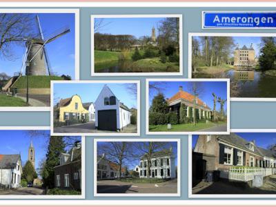 Amerongen, collage van dorpsgezichten (© Jan Dijkstra, Houten)