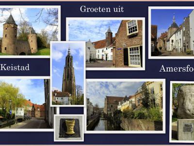 Amersfoort, collage van stadsgezichten (© Jan Dijkstra, Houten)