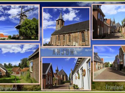Anjum is een dorp in de provincie Fryslân, gemeente Noardeast-Fryslân. T/m 1983 gemeente Oostdongeradeel. In 1984 over naar gemeente Dongeradeel, in 2019 over naar gemeente Noardeast-Fryslân. (© Jan Dijkstra, Houten)