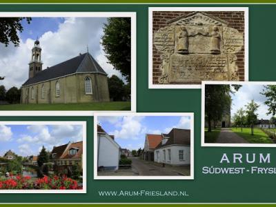 Arum, collage van dorpsgezichten (© Jan Dijkstra, Houten)