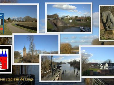Asperen, collage van dorpsgezichten (© Jan Dijkstra, Houten)