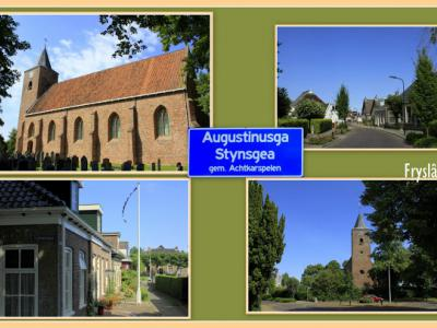 Augustinusga, collage van dorpsgezichten (© Jan Dijkstra, Houten)