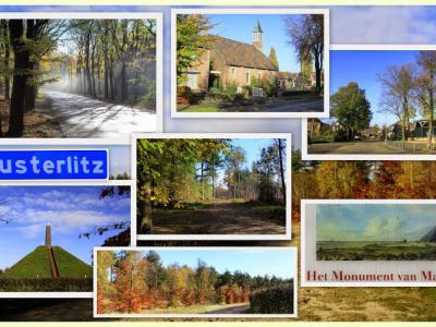 Austerlitz, collage van dorpsgezichten (© Jan Dijkstra, Houten)