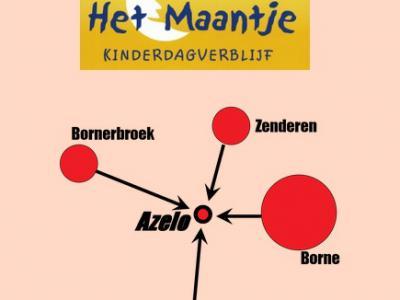 Sommigen vinden een landelijk gelegen buurtschap zoals Azelo afgelegen. Kinderdagverblijf Het Maantje maakt juist een voordeel van de landelijke ligging door te stellen dat het centraal ligt tussen de kernen Borne, Bornerbroek, Delden en Zenderen.