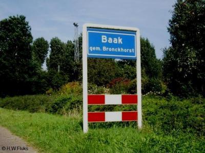 Baak is een dorp in de provincie Gelderland, regio Achterhoek, gemeente Bronckhorst. T/m 2004 gemeente Steenderen.