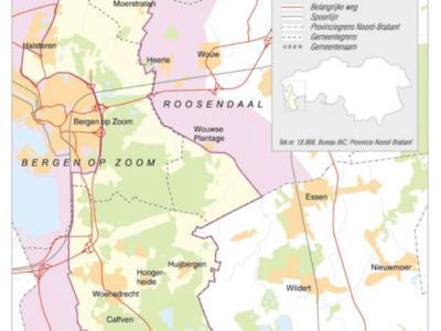 De Brabantse Wal ligt in de gemeenten Steenbergen, Roosendaal, Bergen op Zoom en Woensdrecht. Het is een landschappelijk buitengewoon fraai heuvelachtig gebied en is dan ook benoemd tot aardkundig monument en Provinciaal Landschap. (© www.brabantsewal.nl)