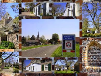 Batenburg, collage van stadsgezichten (© Jan Dijkstra, Houten)