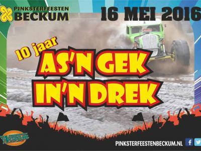 Een van de succesnummers tijdens de jaarlijkse Pinksterfeesten in Beckum is de altijd spectaculaire autocross As'n Gek in'n Drek. (© www.facebook.com/AsnGekInnDrek)