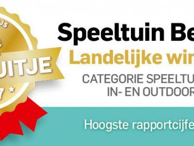 Speeltuin 't Speulparadies in Beerta heeft de AD-Publieksprijs Beste Uitje van Nederland 2017 in de categorie speeltuinen in en uitdoor gewonnen. Ze hadden het hoogste rapportcijfer: een 9,3. Van harte gefeliciteerd! De inwoners zijn er terecht trots op.