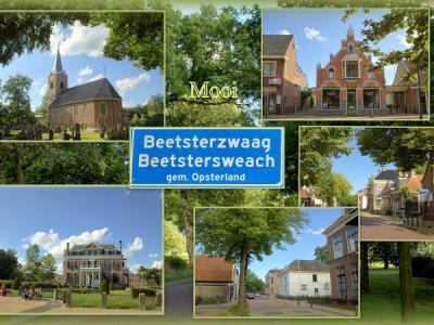 Beetsterzwaag, collage van dorpsgezichten (© Jan Dijkstra, Houten)