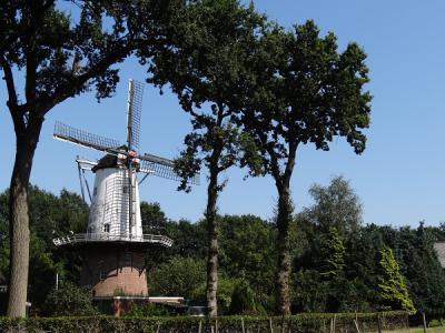 De Veldkamps Meul'n in Bellingwolde is een ronde stenen stellingkorenmolen. Het uiterlijk van deze molen is uniek voor Oost-Groningen. (© Harry Perton / https://groninganus.wordpress.com)