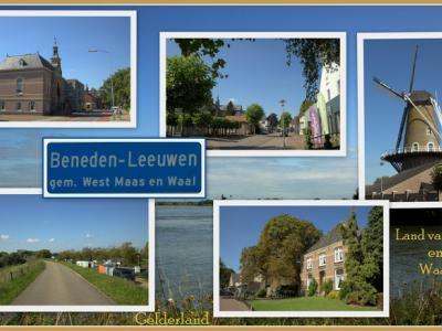 Beneden-Leeuwen, collage van dorpsgezichten (© Jan Dijkstra, Houten)
