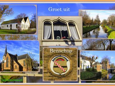 Benschop is een dorp in de provincie Utrecht, in de streek Lopikerwaard, gemeente Lopik. Het was een zelfstandige gemeente t/m 1988. (© Jan Dijkstra, Houten)