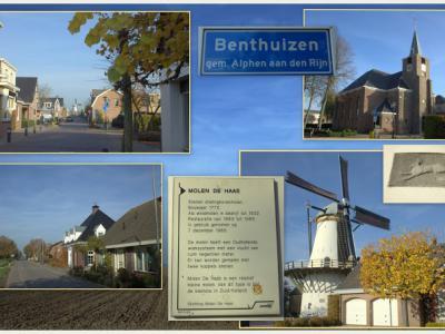 Benthuizen, collage van dorpsgezichten (© Jan Dijkstra, Houten)